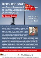 Guest Lecture: Discourse Power: The Chinese Communist Party's Attempt to Control Academic Debates on a Global Scale