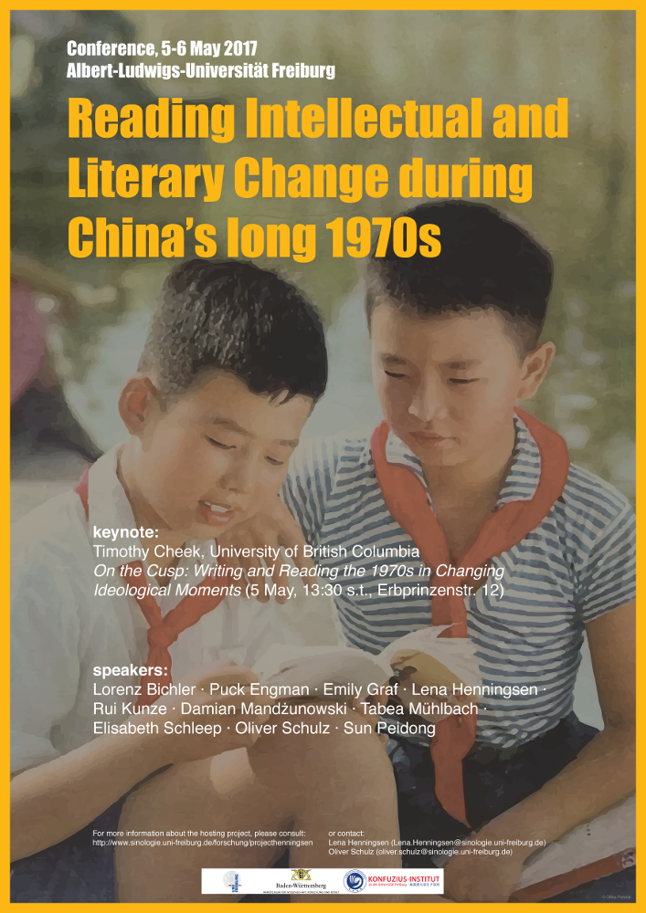 """Conference:  """"Reading Intellectual and Literary Change during China's Long 1970s"""""""